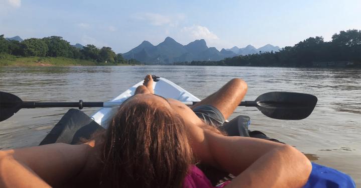 kayak laying